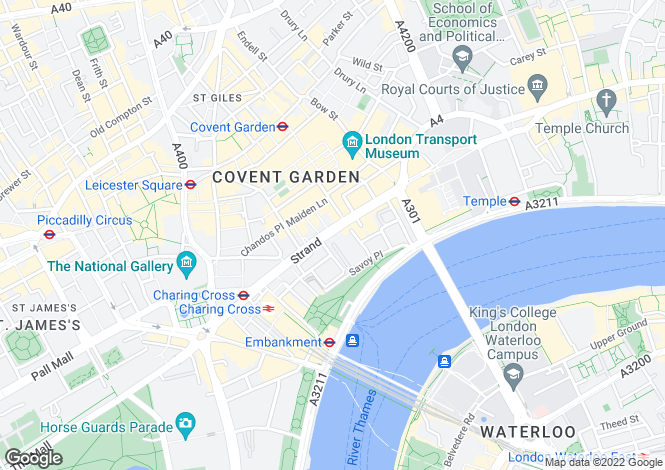 Map for The Savoy, Strand, London, WC2R 0EU