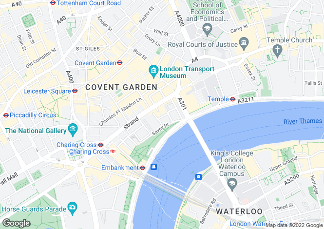 Map for Savoy Apartments, 6 Savoy Court, WC2R