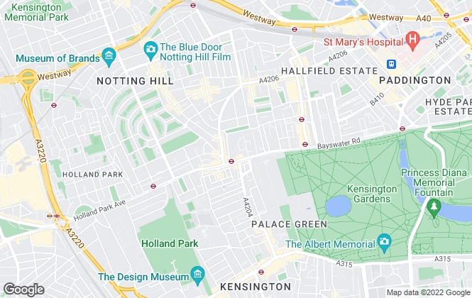 Map for Notting Hill Apartments, London