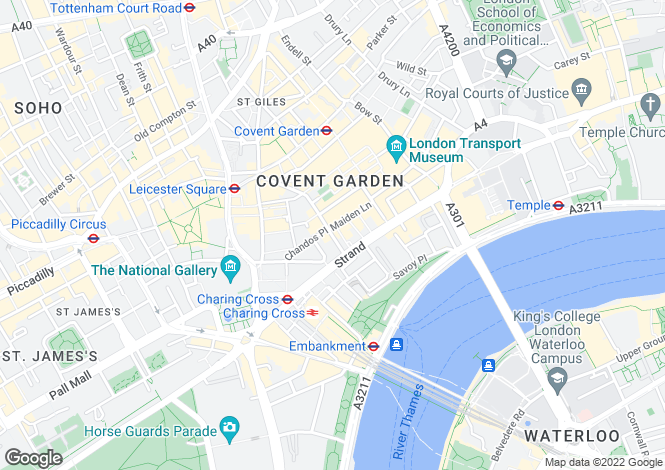 Map for Maiden Lane, Covent Garden