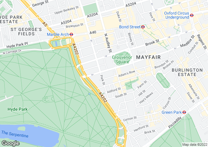 Map for Eaton House, Upper Grosvenor Street, Mayfair, London, W1K