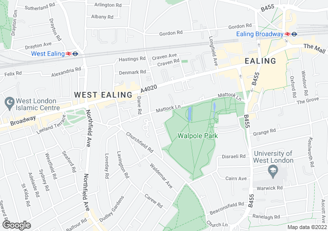Map for Mattock Lane, Ealing, London, W5