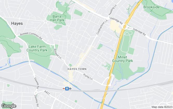 Map for Karwood, Hayes