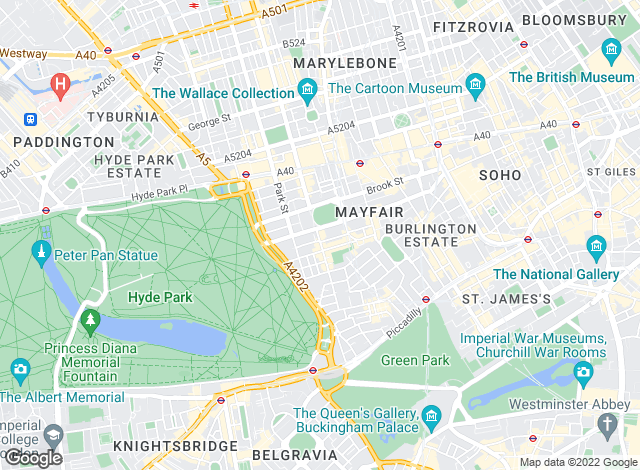 Map for Chesterton Humberts Lettings, Mayfair