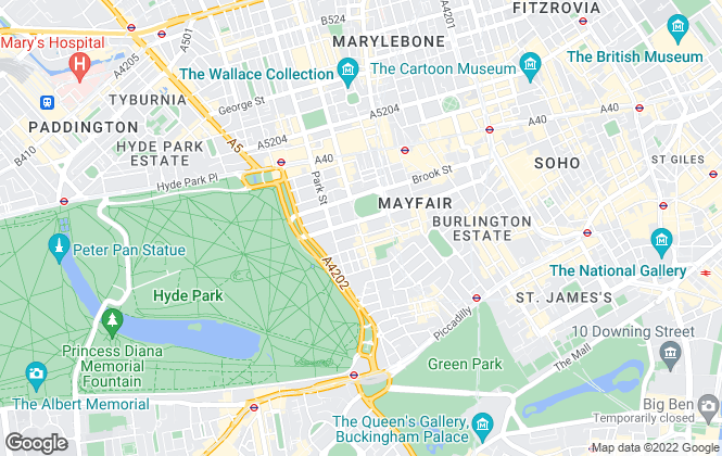 Map for Chestertons Sales, Mayfair