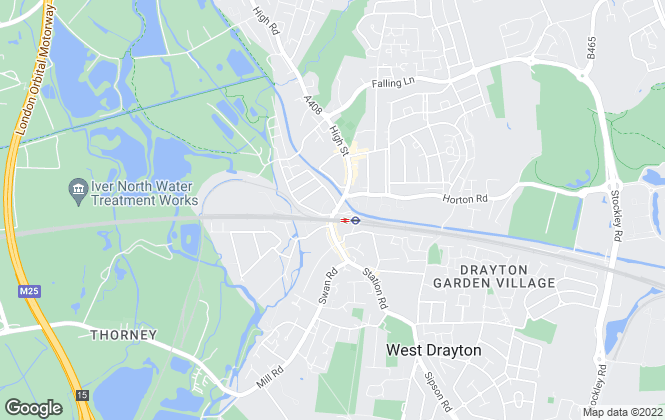 Map for Campsie, West Drayton