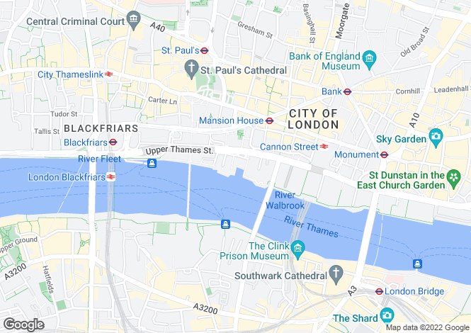 Map for Queens Quay, 58 Upper Thames Street, London, EC4V