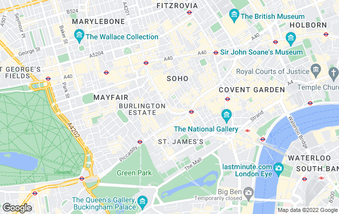 Map for Outlet Residential Limited, London - Soho