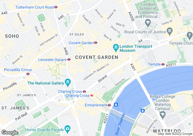 Map for Henrietta Street, Covent Garden, London, WC2