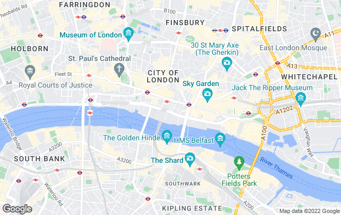 Map for Blueprint Living Apartments, London