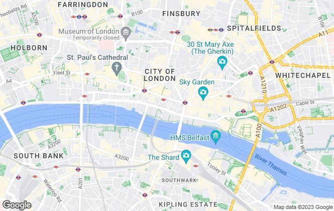 Map for Blueprint Living Apartments, London