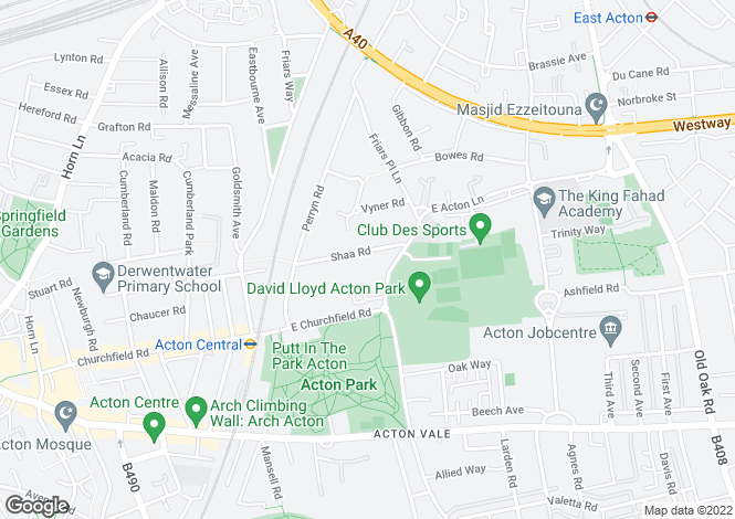 Map for Shaa Road, Acton, W3