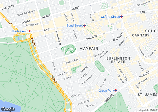 Map for Grosvenor Square, London, W1K