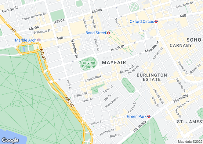 Map for Grosvenor Square, London, W1