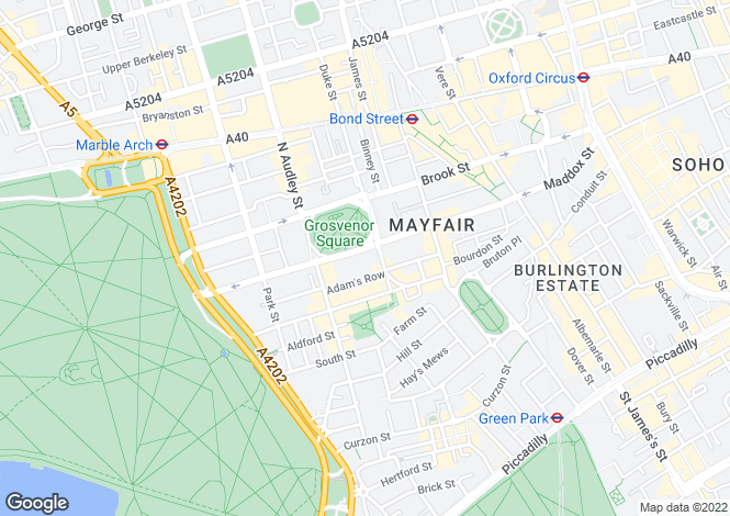 Map for Grosvenor Square, Mayfair, London W1K 2HS