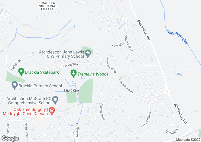 Map for 29 The Woodlands, Brackla, Bridgend. CF31 2JF