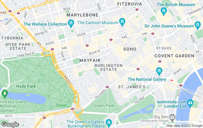 Map for Black Brick, Mayfair