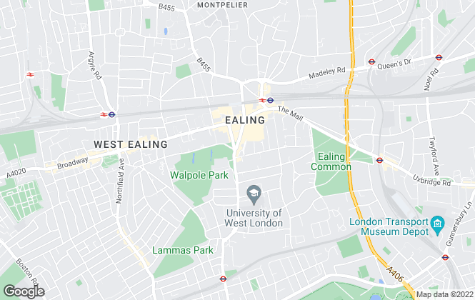Map for Savills, Ealing