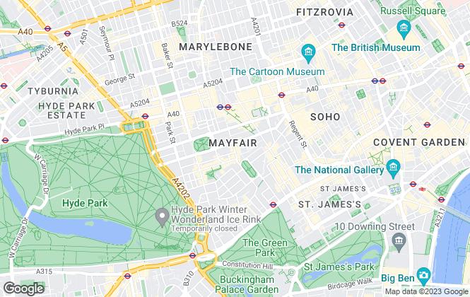 Map for Carter Jonas Lettings, Mayfair
