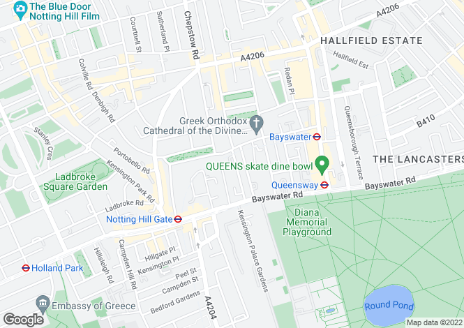 Map for Ossington Street, Notting Hill, London, W2