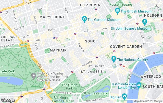 Map for Regent Street Home, London