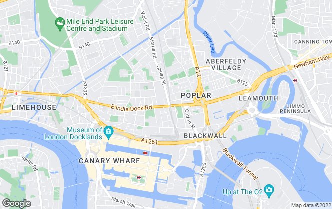 Map for YOUR MOVE - James Muir, Docklands