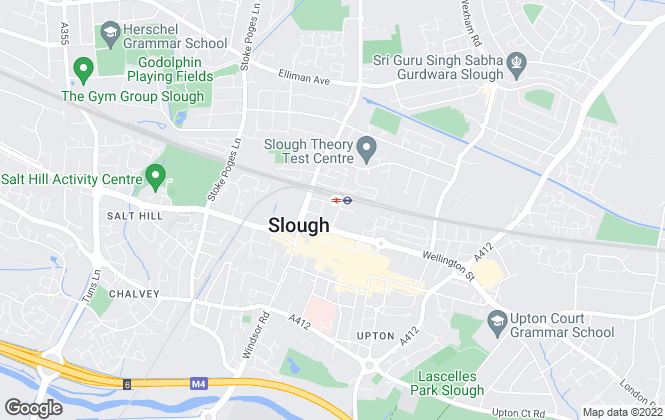 Map for Elsewhere, Slough