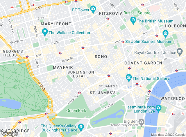 Map for LetDirect, London
