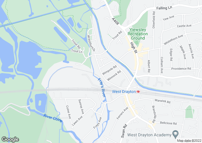 Map for Tavistock Road, West Drayton, Greater London, UB7