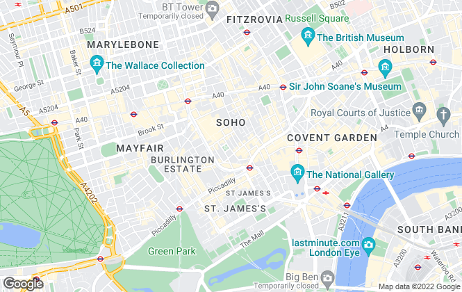 Map for Golden Square Lettings Limited, London