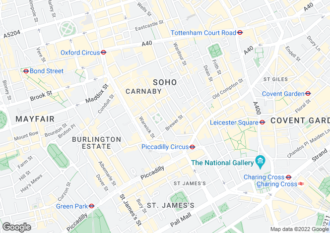 Map for Golden Square,