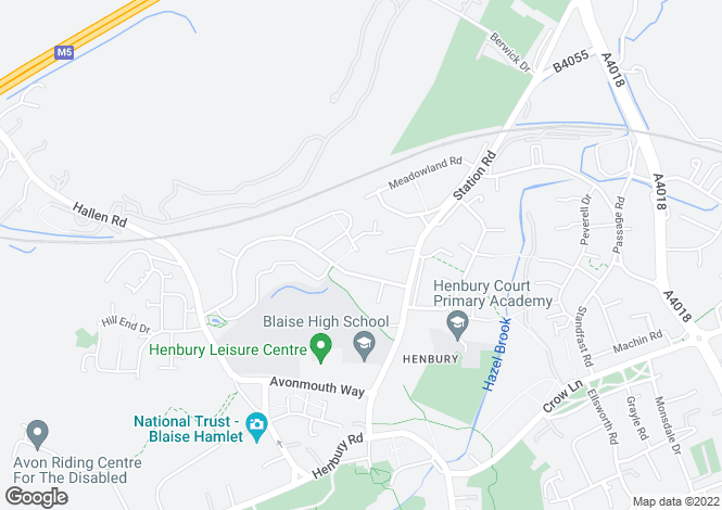 Map for Birdale Close, Bristol, Somerset, BS10