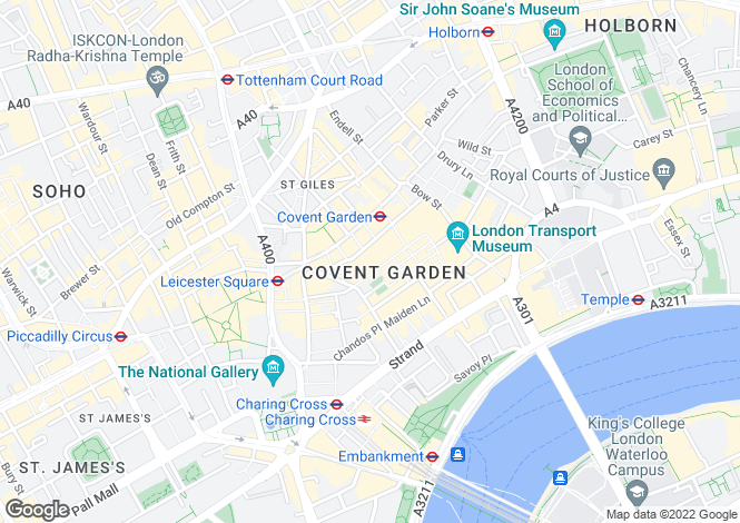 Map for Floral Street, London, Covent Garden