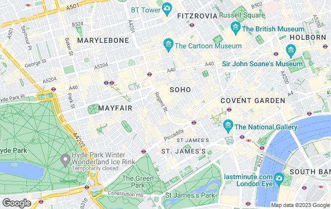 Map for Adams Burnett, London
