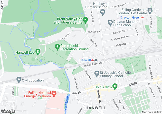 Map for Golden Manor, Hanwell
