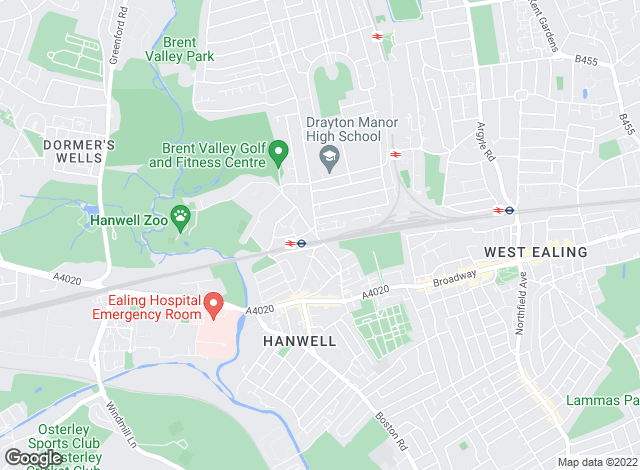 Map for Sinton Andrews, Hanwell