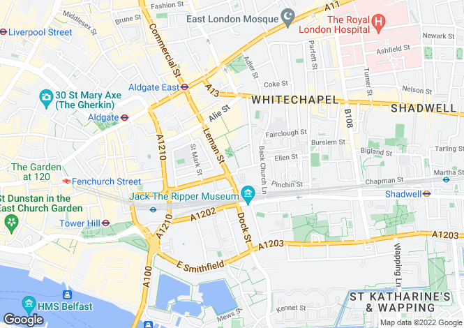 Map for City Quarter, Hooper Street Times Square, London, E1