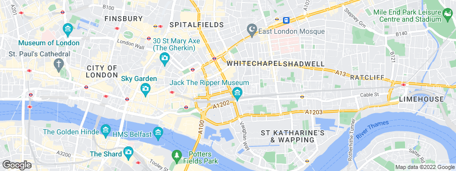 Map for Berkeley Homes (North East London) Ltd
