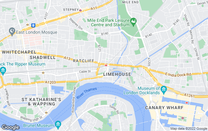 Map for London Quays, London
