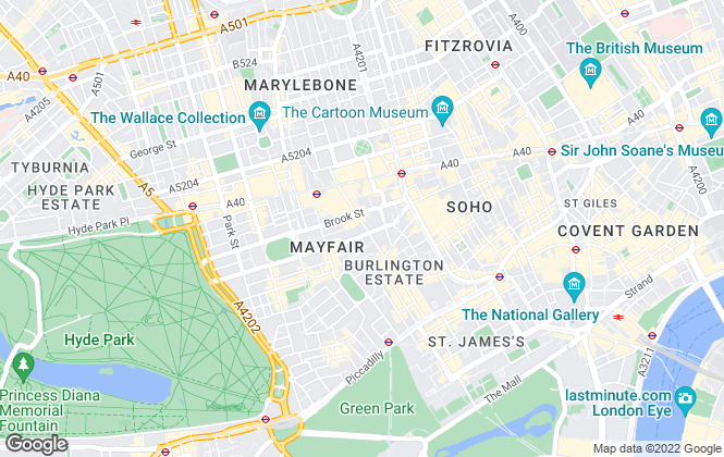 Map for Bellgravia, London