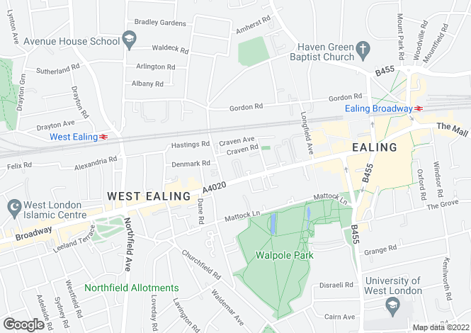 Map for Cavalier House, Uxbridge Road, Ealing, W5