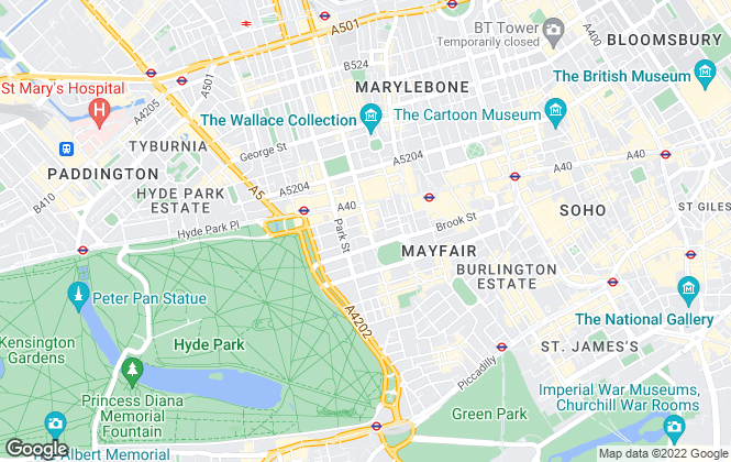Map for Savills, Mayfair