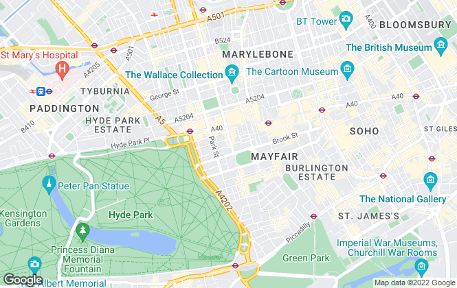 Map for Savills Lettings, Mayfair