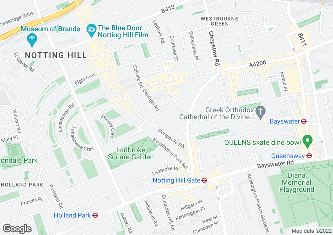 Map for Pembridge Crescent, Notting Hill
