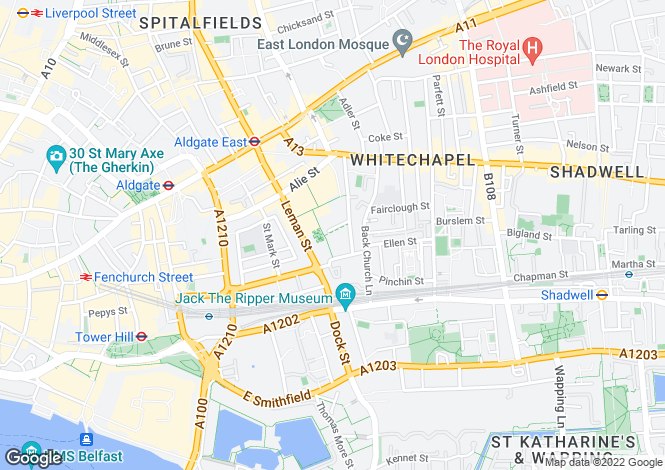 Map for Times Square, City Quarter, Whitechapel, London, UK