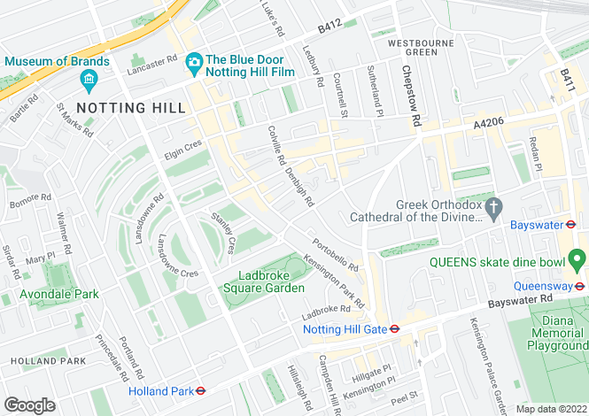 Map for Chepstow Villas, Notting Hill, London W11