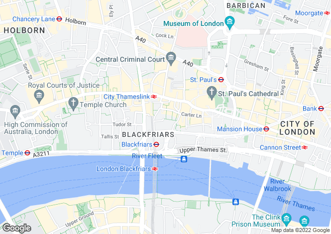 Map for Church Entry London