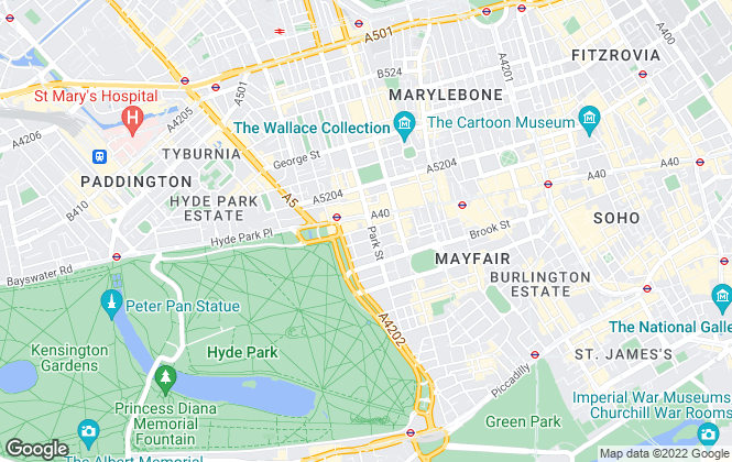 Map for Aeon Trisl Investments, Mayfair