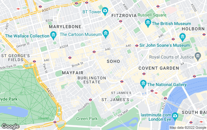 Map for Avison Young (UK) Limited, Offices - London - West End