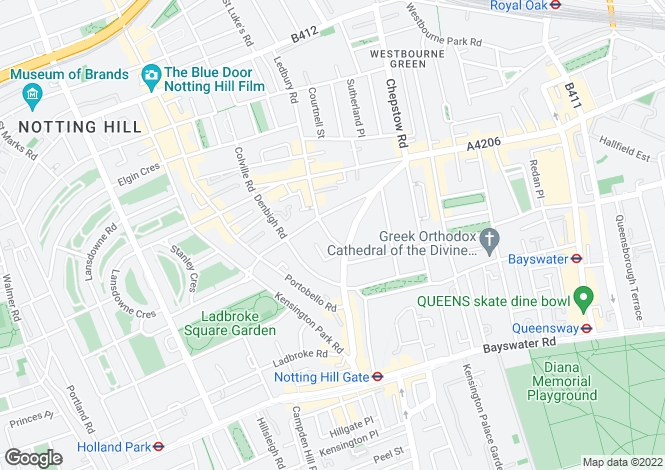 Map for Chepstow Crescent, Notting Hill, W11
